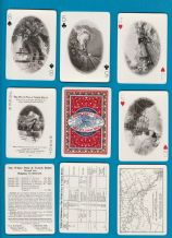 Antique Collectible  Souvenir playing cards White Pass & Yukon Route,